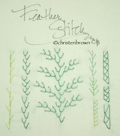 Embroidery Corner, Week 8, Feather Stitch Sampler