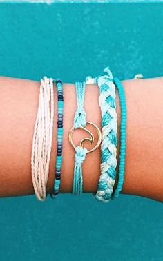 Pura Vida | Save 20% with coupon code 'KARAJ28' | Woven hand-made bracelets from Costa Rica | Portion of each sale goes towards charity!