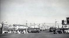 B-line Geary Streetcar turnaround at Cabrillo Street and La Playa, January 31, 1947. Courtesy of Dennis O'Rorke.