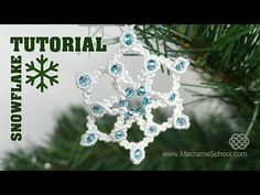 Knotted Snowflake Tutorial ★ Macrame School - YouTube