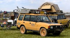 Camel Trophy Discovery and Range Rover