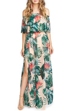 Show Me Your Mumu Hacienda Convertible Off the Shoulder A-Line Gown in kauai kisses (floral maxi) $172 | Nordstrom