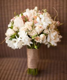 a hint of tuberose is a lovely companion for the blush in the bouquet