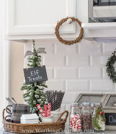 Farmhouse Christmas Kitchen - Hot Drink Bar