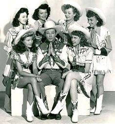 Roy Rogers and his ranch girls. He was a great guy who kept his testimony throughout his career in Hollywood. And he was super cute. ;)