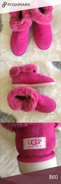 Barbie Pink UGG boots 💕 Size 11. Gentaly worn 3 times . Like newer condition . Slight dirt on the bottom of soles . No box included .  UGG BOOTS   . Paid 128.00$ UGG Shoes Winter & Rain Boots