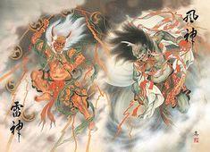 Pix For > Raijin And Fujin Mythology