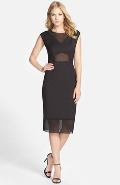 French+Connection+'Glass'+Mesh+Inset+Sheath+Dress+available+at+#Nordstrom