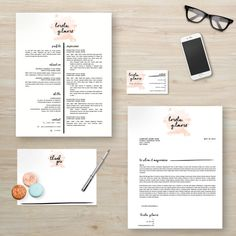 Resume Template Cover Letter Instant Download  The OJays