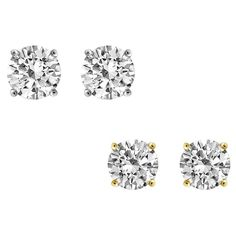 Forever Yours IGI Certified Diamond Stud Earrings 14K Gold With Diamonds Jewelry For Women & Girls