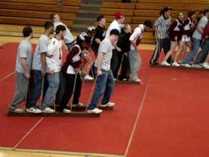This is an easy and fun activity for spirit competitions and also for team building.