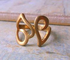 SALE 50% off. Limited Edition Gold hearts cocktail ring £5.00 Dress Rings, Sale 50, Heart Of Gold, Cocktail Rings, Free Gifts, Gift Guide, Wedding Jewelry, Heart Ring, Jewelry Rings