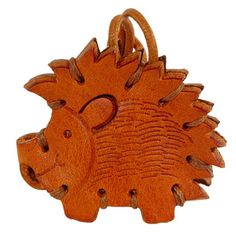 RICCIO - Hedgehog Italian Leather Key Chain