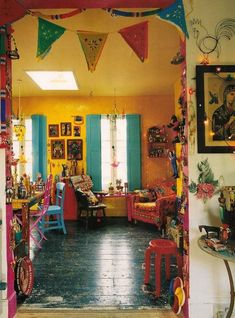 Mexican home decor ideas home decorating ideas bohemian yellow wall colorful furniture the perfect decoration awesome design and decor home design Bohemian Interior, Bohemian Decor, Home Design, Interior Design, Design Ideas, Mexican Colors, Mexican Home Decor, Mexican Decorations, Mexican Kitchen Decor