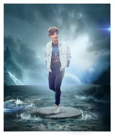 """""""louis Tomlinson. othe half"""" by lovetill4ev3r ❤ liked on Polyvore featuring art"""