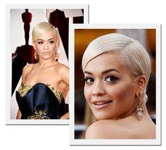 Oscar 2015: Rita Ora, que apresentou a canção Grateful durante a noite, escolheu brincos Lorraine Schwartz (Foto: Getty Images)