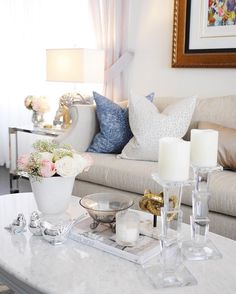 Living room family room | coffee table styling | Classy Glam Living