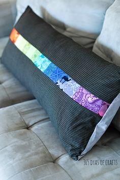 mini charm pillow tutorial using Valori Wells fabric. Easy sew bench pillow.