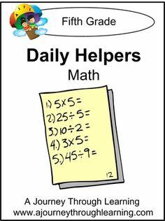 Daily Helper Lapbook- Grade 5 Math