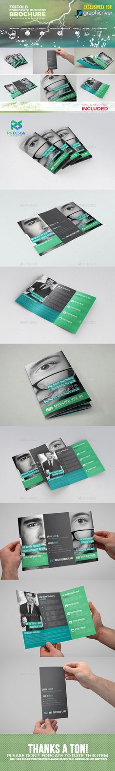 Trifold Corporate Brochure Template InDesign INDD. Download here: http://graphicriver.net/item/trifold-corporate-brochure-/16926833?ref=ksioks