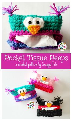 Free Pattern: Pocket Tissue Peeps ~ SnApPy ToTs