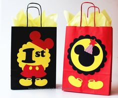 Set of 10 Mickey and Minnie Mouse Birthday Party Favors/ Mickey Mouse Treats, Mickey Mouse Birthday Decorations, Fiesta Mickey Mouse, Mickey Mouse Clubhouse Birthday Party, Mickey Mouse Bday, Mickey Mouse Parties, Mickey Birthday, Mickey Party, Mickey Mouse And Friends