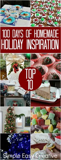 Homemade Holiday Inspiration: Top 10 for 2017 - Hoosier Homemade Christmas Couple, Great Christmas Gifts, All Things Christmas, Christmas Holidays, Christmas Foods, Beautiful Christmas, Winter Holidays, Handmade Christmas, Christmas Cookies