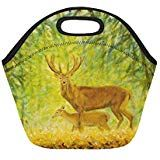 Painting Of Deer Insulated Lunch Tote Bag Reusable Neoprene Cooler Portable Lunchbox Handbag For Men Women Adult Kids Boys Girls Insulated Lunch Tote, Lunch Tote Bag, Handbags For Men, Kids Boys, Holiday Gifts, Boy Or Girl, Deer, Lunch Box, Girls