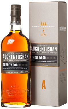 Auchentoshan Three Wood Single Malt Scotch Whisky x l) Scotch Whisky, Whiskey Bottle, Vodka Bottle, Gaelic Words, Shops, Worlds Of Fun, Distillery, Packaging Design, Alcohol