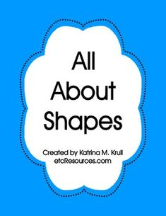 Introducing shapes and their properties to your early childhood students?  This book is for you!  It includes eight different shapes to practice and review, including: square, rectangle, circle, triangle, pentagon, hexagon, octagon, and star.  Each activity page allows your student to trace the shape, write the name of the shape, practice writing the letters to spell the shape, and find the shape in your classroom.