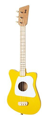 Loog Mini Acoustic Guitar 3-String Guitar, Yellow Loog Gu...