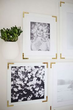 The 15 best tutorials for diy frames hardware gold and diy frame try this update simple frames with gold hardware a beautiful mess solutioingenieria Images