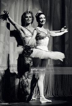 Рудольф Нуриев и Алисия Алонсо во время Гала-концерт американского балета - 28 июля 1975 года в штате Нью-Йорк театр в…