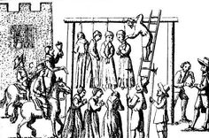 "Burning and hanging were the most popular forms of execution for accused witches in medieval Europe. Burning seems to have been most common in continental Europe while hanging was more common in Britain -- and thus also in the American colonies later as well. The death penalty was imposed on a wide variety of crimes in this era, but witchcraft in particular was punished by death on the basis of Exodus 22:18: ""Thou shalt not suffer a witch to live"" and Leviticus 20:27: ""A man also or woman…"