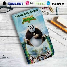 Kung Fu Panda 3 Eat Leather Wallet iPhone 4/4S 5S/C 6/6S Plus 7| Samsung Galaxy S4 S5 S6 S7 NOTE 3 4 5| LG G2 G3 G4| MOTOROLA MOTO X X2 NEXUS 6| SONY Z3 Z4 MINI| HTC ONE X M7 M8 M9 CASE
