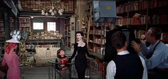 """Dovima + Audrey Hepburn in """"Embryo Concepts"""", fictionally located in Greenwich Village, from the wonderful film, 'Funny Face (1957)."""