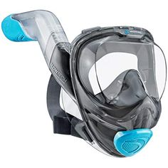 WildHorn Outfitters Seaview Full Face Snorkel Mask with FLOWTECH Advanced Breathing System – Allows for A Natural & Safe Snorkeling Experience- Panoramic Side Snorkel Set Design - Excellent Buy Online Best Snorkel Mask, Full Face Snorkel Mask, Thing 1, Face Design, Set Design, Full Face Mask, Snorkeling