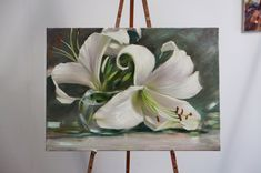 My wedding flowers – Merve Şarcı – Join the world of pin Abstract Flowers, Watercolor Flowers, Watercolor Paintings, Floral Paintings, Lily Painting, Garden Painting, Pretty Art, Art Oil, Flower Art