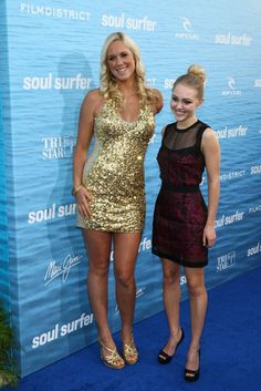 """Perspective is everything. This is Bethany Hamilton, a professional athlete who is in outstanding shape, standing next to Anna Sophia Robb, the actress who played her in the film """"Soul Surfer."""""""