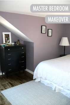 Renovating your space doesn't have to be complicated! This simple master bedroom makeover by blogger The One Where Kristen Buys a House features Fortune, a soft lavender shade, and timeless furniture pieces to create a truly welcoming and relaxing escape.