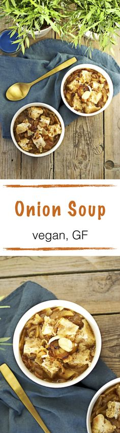 With only 3 ingredients, you can make yourself a warming and nourishing vegan onion soup. Good for the days when it gets colder and an awesome full meal when you add extra gluten free bread. Be sure to get your bowl! (P.S. you don't need the oil to sauté the onions!)