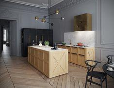Apartment in Paris Kitchen - Галерея 3ddd.ru