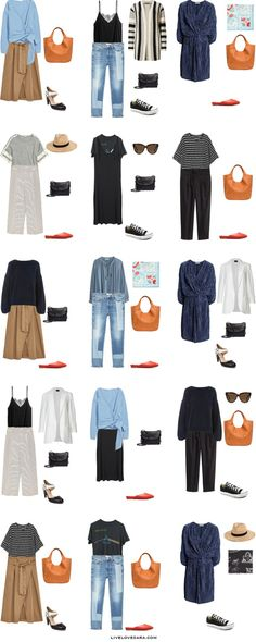 What to Wear in Hungary and Bulgaria Outfit Options 16-30 Packing Light List #packinglist #packinglight #travellight #travel #livelovesara