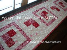 A Quilting Life - a quilt blog: Modern Valentine Table Runner Tutorial