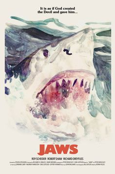"antoniostella: ""Posters for ""Jaws"" - 1975 by Steven Spielberg. """