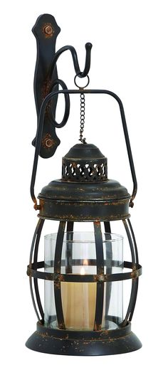 Amazon.com - Benzara Wall Lantern Designed with Arched Contours - Wall Porch Lights