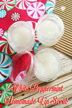 Homemade Christmas Gift Idea: DIY White Peppermint Homemade Lip Scrub Make homemade lip balm and give a few away as Christmas gifts. I started using essential oils a few months ago, and I am loving all the things you can do with them!  A Worthey Read