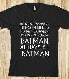 Batman shirt for my step-dad