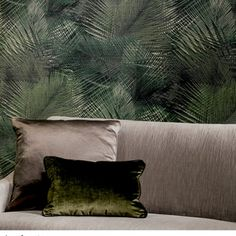 Wallpaper Arte Avalon Shield - Sold per roll Image New, Brown Wallpaper, L Shaped Sofa, Throw Pillows, Home Decor, Style, Tropical, Indoor, Wallpapers