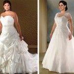 Plus Size: Vestidos de Noivas para Gordinhas 2014